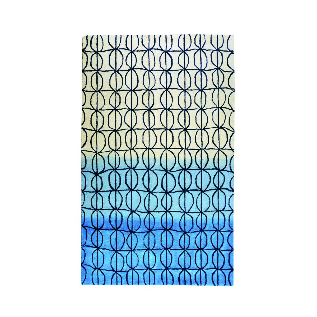 tapis design bleu ou gris hartford par the rug republic. Black Bedroom Furniture Sets. Home Design Ideas