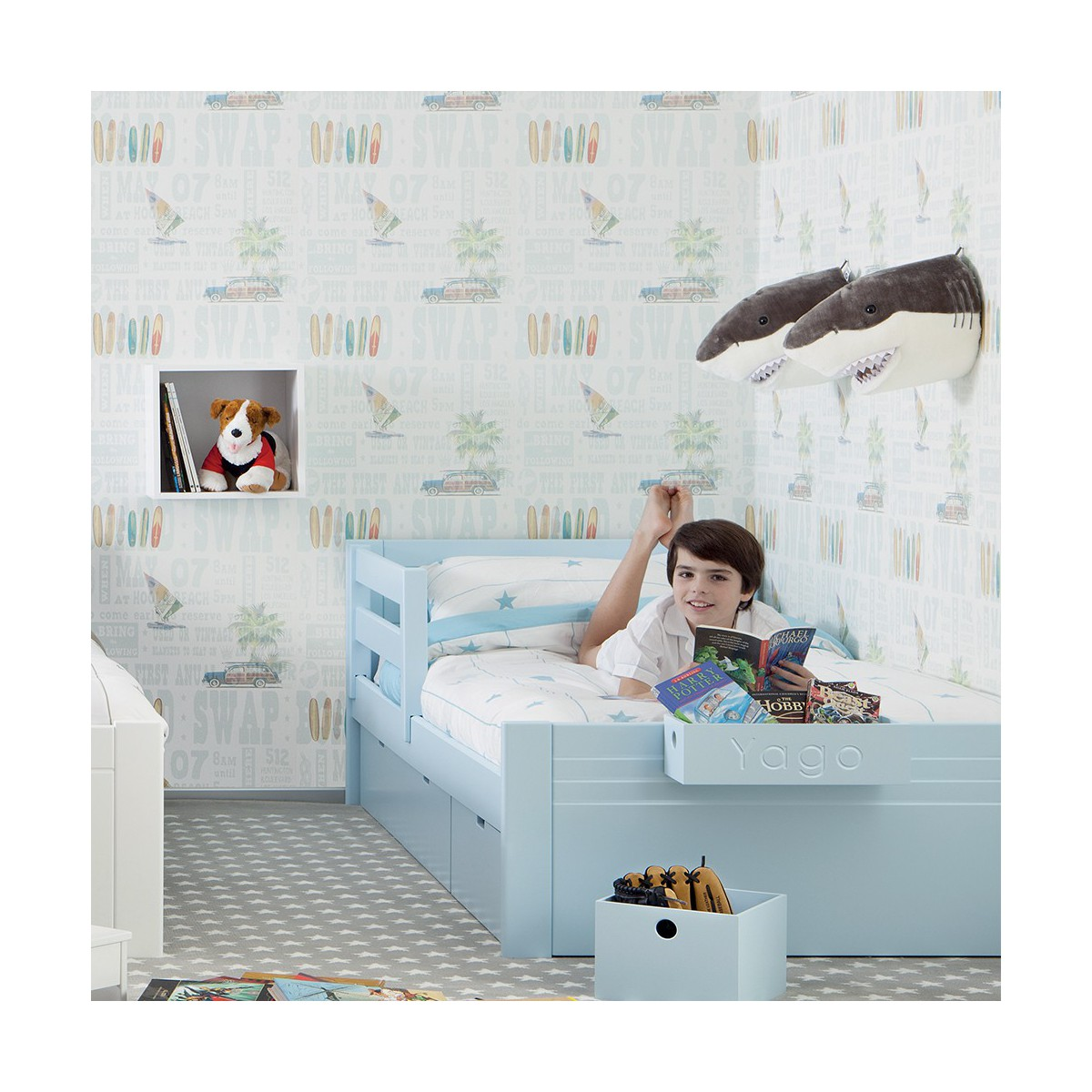 lit simple pour enfants ado cometa par asoral. Black Bedroom Furniture Sets. Home Design Ideas