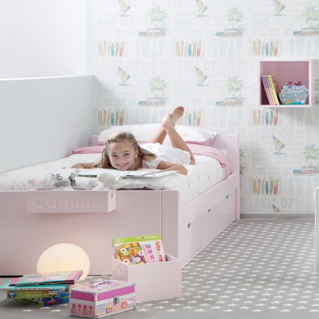 lit design pour enfant junior ado liso par asoral. Black Bedroom Furniture Sets. Home Design Ideas