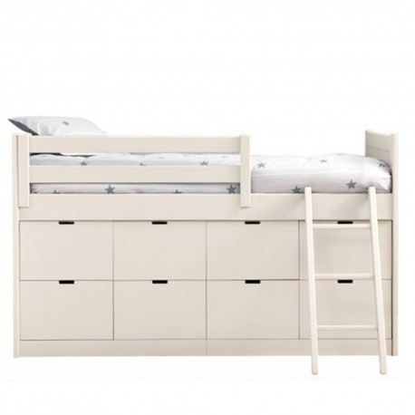 lit enfants juniors avec 8 tiroirs de rangement liso block. Black Bedroom Furniture Sets. Home Design Ideas