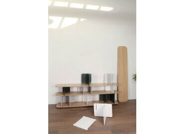 CONSOLE / ETAGERE EMPILABLE STACKIT SIGNE LAURENT MINGUET