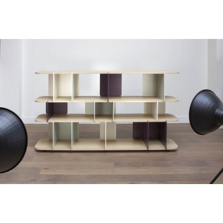 BIBLIOTHEQUE DESIGN OU ETAGERES PERSONNALISABLES STACKIT BY MIIING