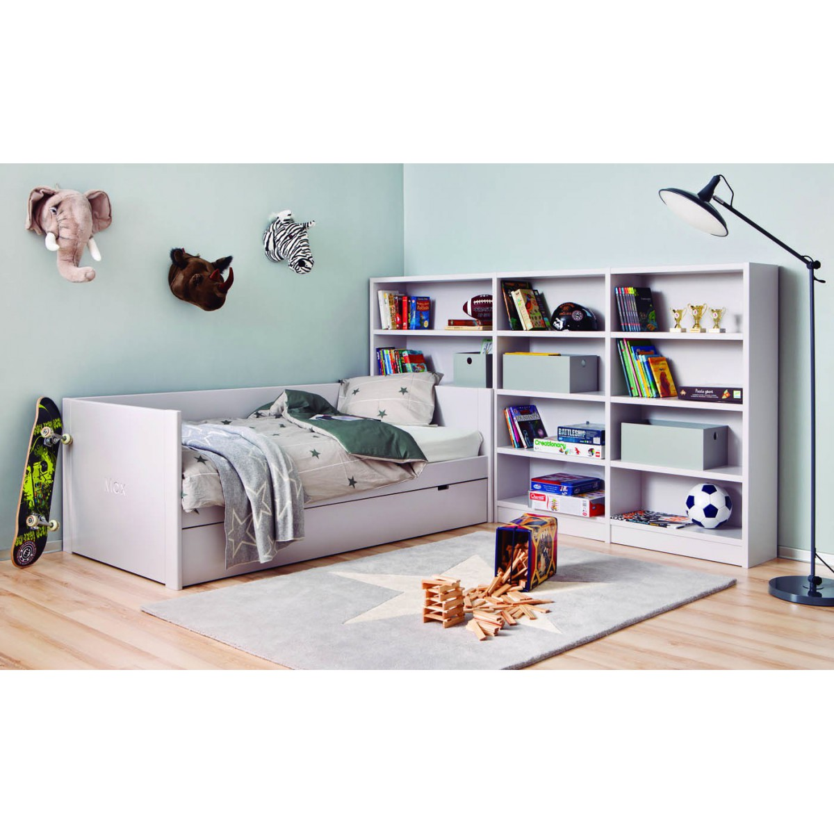 biblioth que pour chambre d 39 enfants juniors de qualit sign e asoral. Black Bedroom Furniture Sets. Home Design Ideas