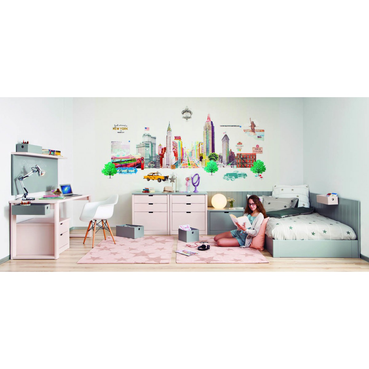 Chambre design et zen pour adolescents sign e asoral for Design japonais mobilier