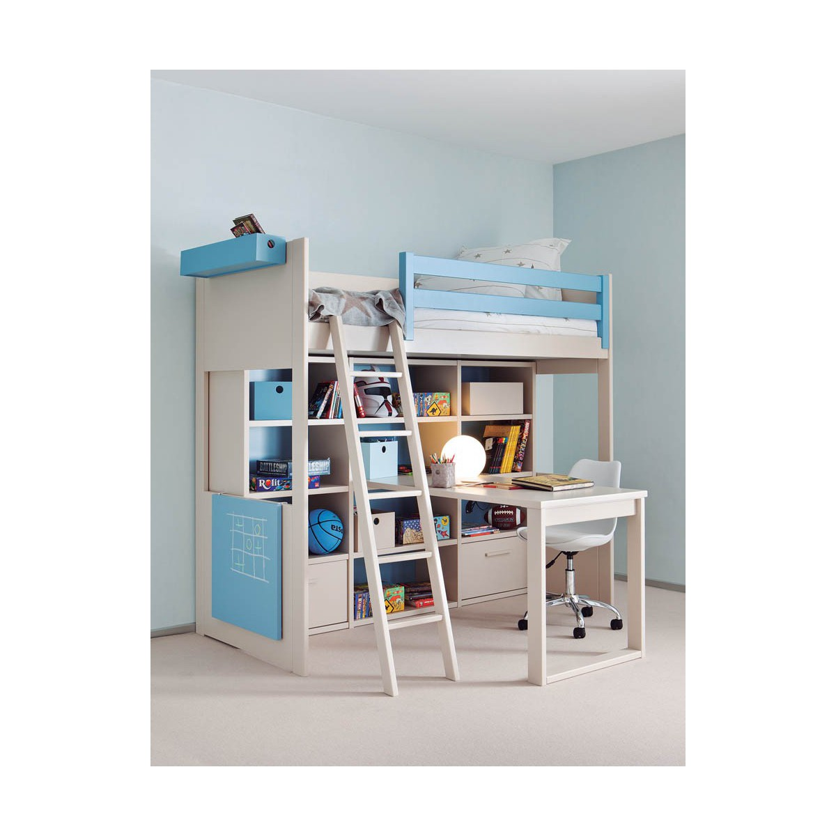Lit enfant gain de place maison design - Lit armoire gain de place ...