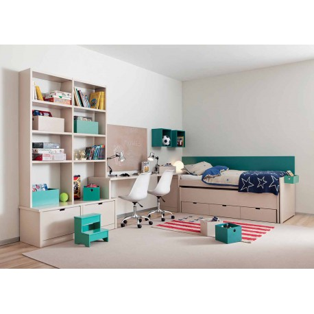 chambre haut de gamme pour 2 enfants sign e asoral. Black Bedroom Furniture Sets. Home Design Ideas