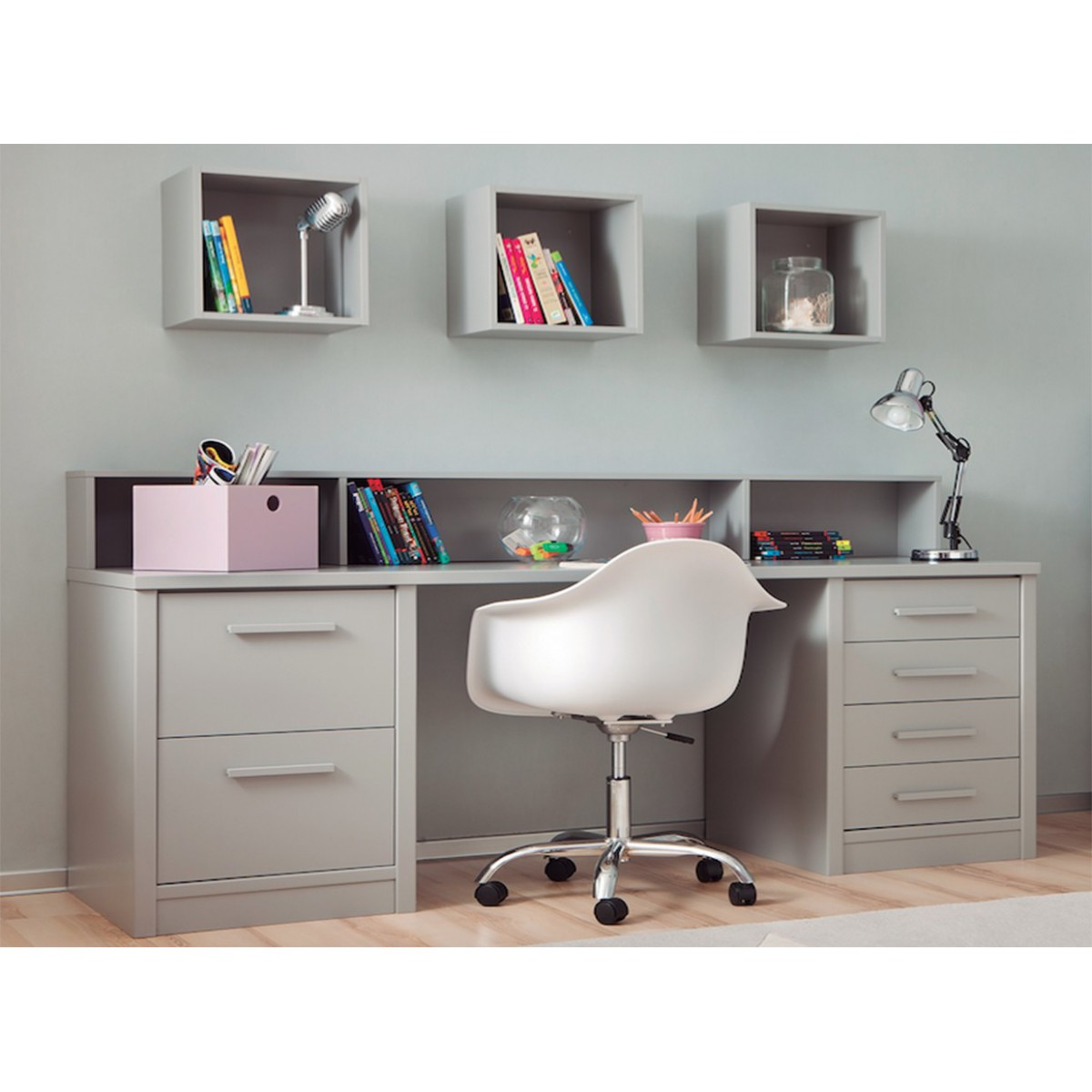 Bureau junior moderne et fonctionnel sign asoral for Bureau moderne ado