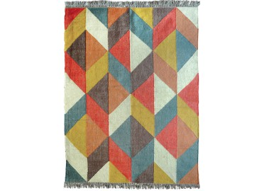 TAPIS KILIM DESIGN VINTAGE GRAPHIQUE ET COLORE NEWPORT