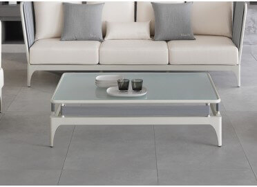 TABLE BASSE INTERIEUR EXTERIEUR STRIPE DESIGN ROBERTO SERIO POUR TALENTI