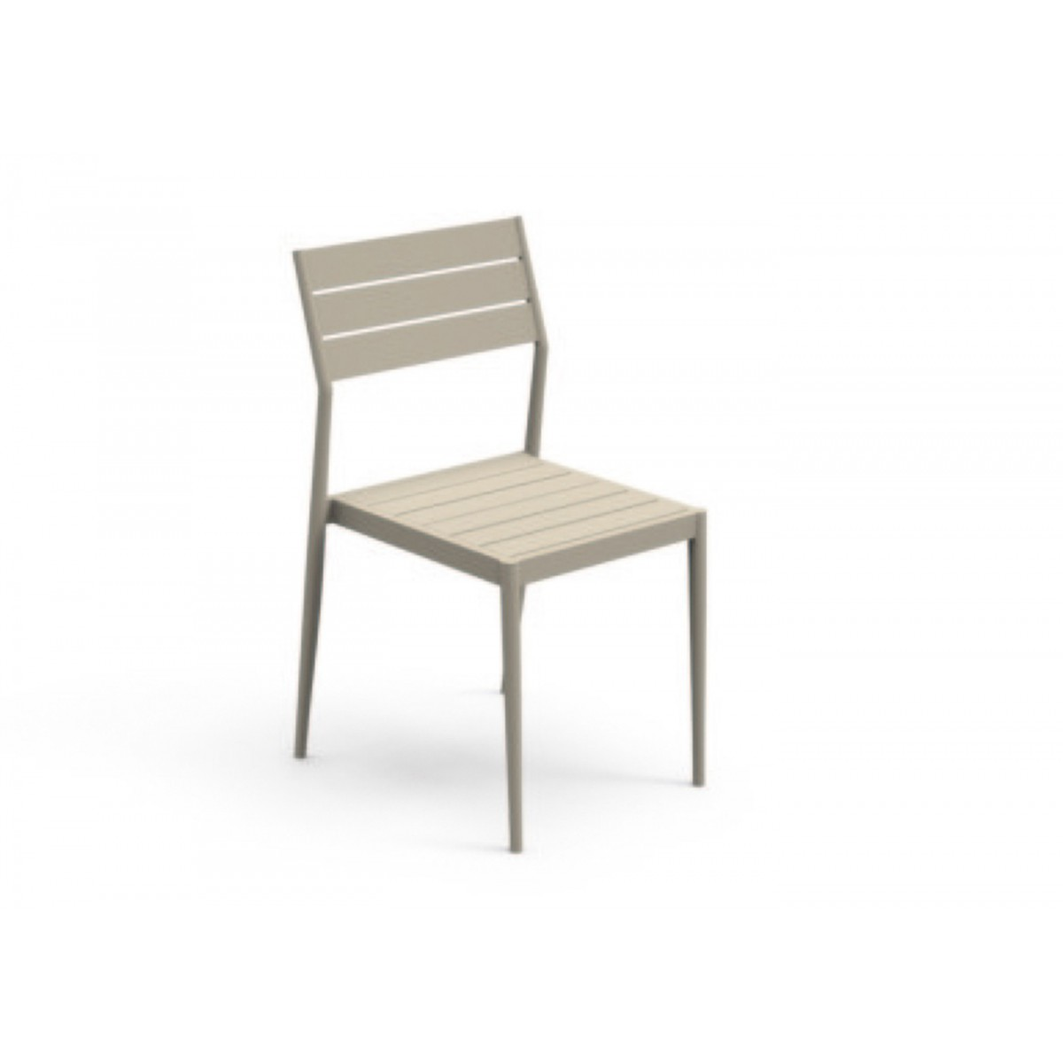 Chaise de repas de qualit blanc ou taupe elite par talenti for Chaise de table design