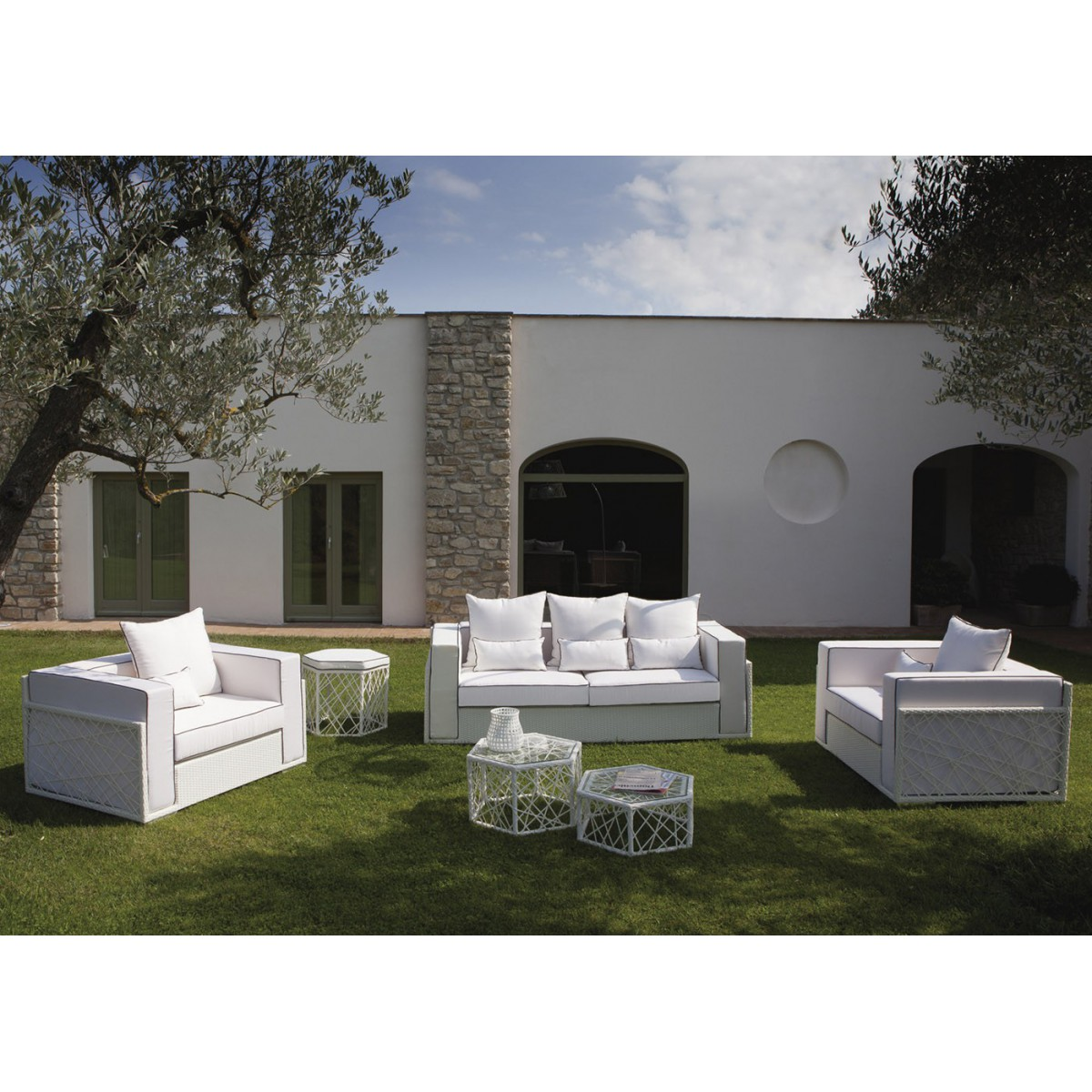 best salon de jardin osier blanc gallery amazing house design. Black Bedroom Furniture Sets. Home Design Ideas