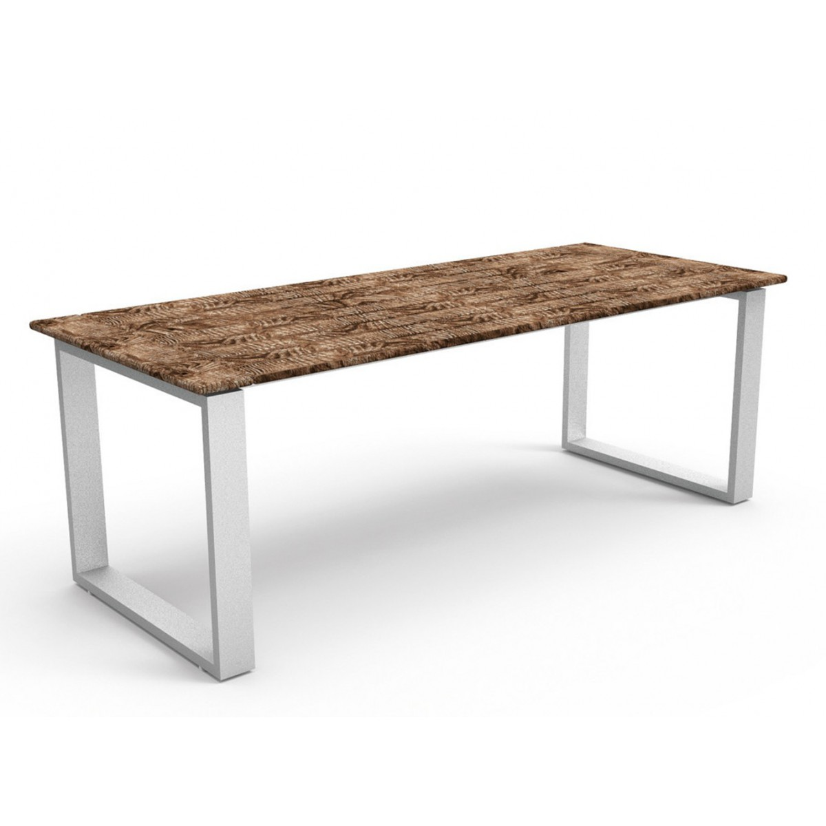 Table de repas en teck et aluminium essence par talenti for Table d exterieur en aluminium