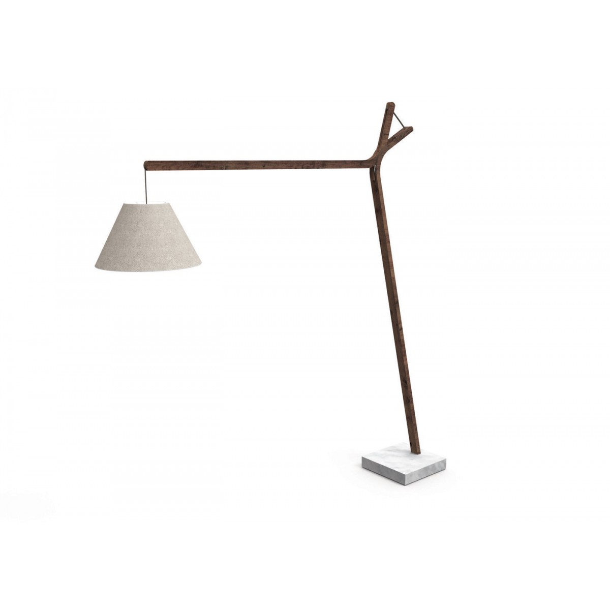 Sublime luminaire d 39 ext rieur en teck cl o sign talenti for Lampadaire design exterieur