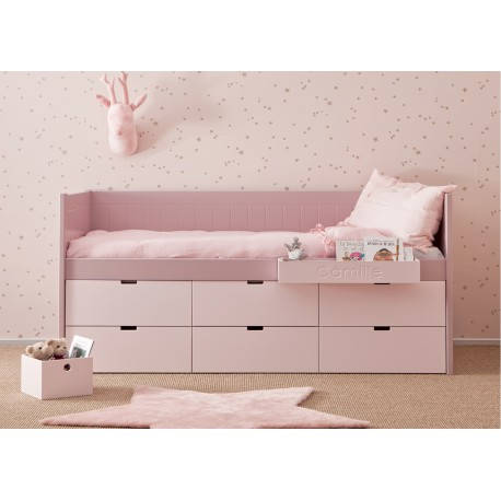 lit enfant junior avec 6 tiroirs de rangement bahia block par asoral. Black Bedroom Furniture Sets. Home Design Ideas