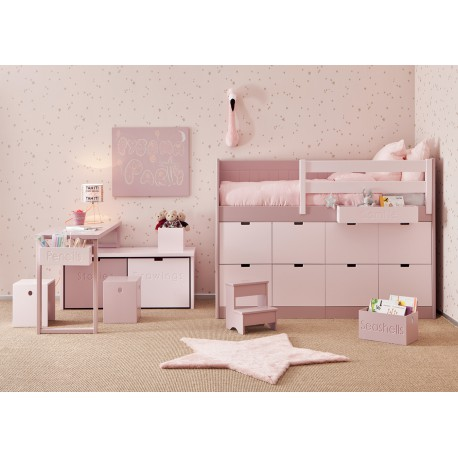chambre enfant adolescent haut de gamme et design sur mesure asoral. Black Bedroom Furniture Sets. Home Design Ideas