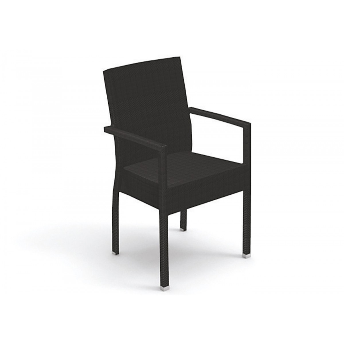 fauteuil de jardin en wicker blanc ou brun ibiza talenti. Black Bedroom Furniture Sets. Home Design Ideas