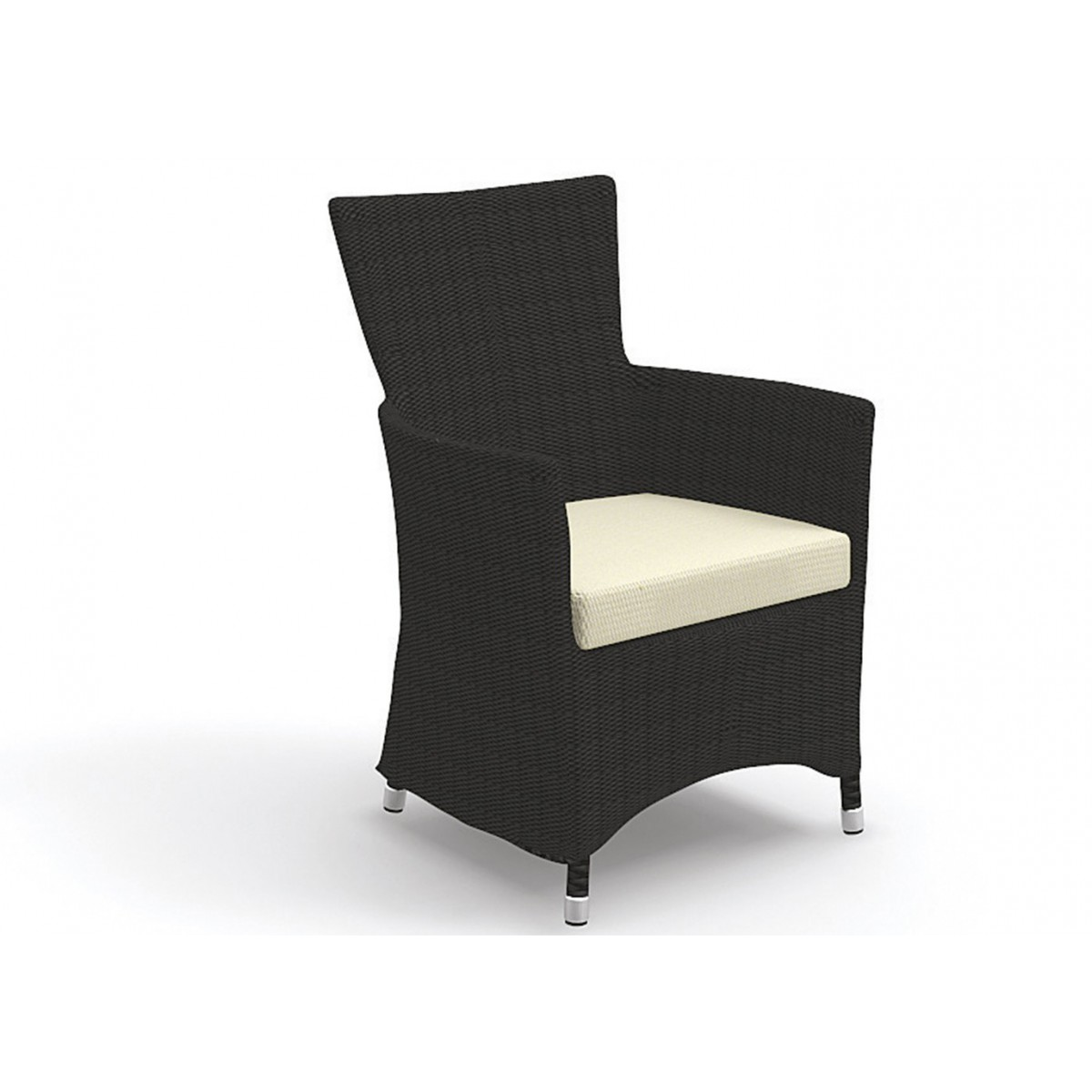 fauteuil de jardin en wicker brun ou blanc miami by talenti. Black Bedroom Furniture Sets. Home Design Ideas