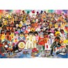 "TABLEAU ""ROCK AROUND PLAYMOBILS"" PAR RICHARD UNGLIK"