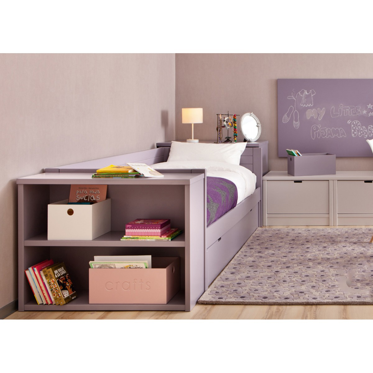 chambre d 39 enfant haut de gamme avec lit et bureau design asoral. Black Bedroom Furniture Sets. Home Design Ideas