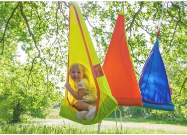 TENTE SUSPENDUE POUR ENFANTS ROSE, ORANGE OU BLEU FIELDCANDY