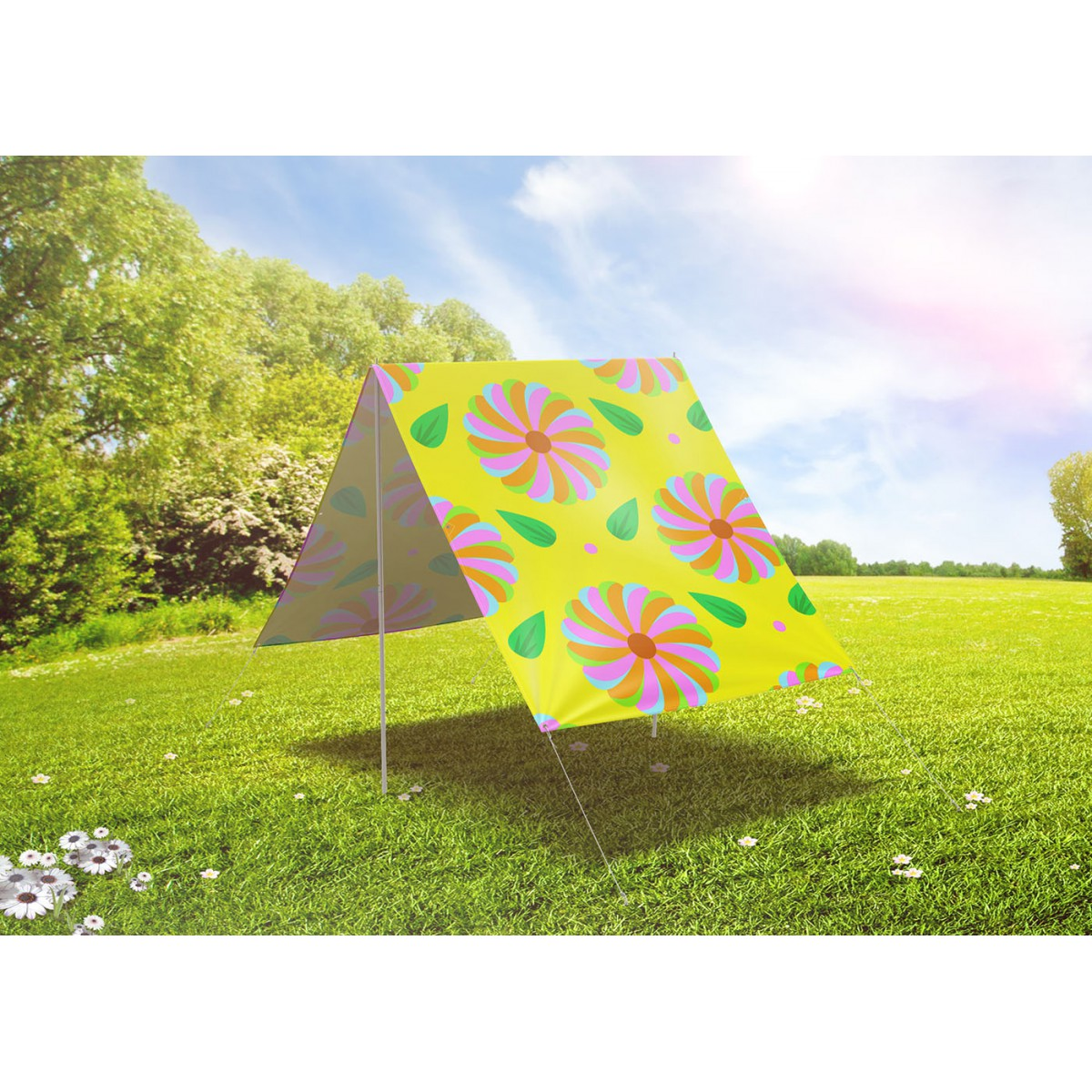 parasol de plage piquer au sol facile transporter fieldcandy. Black Bedroom Furniture Sets. Home Design Ideas