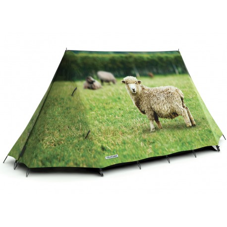 TENTE ADULTE 2 PERSONNES ORIGINAL THEME FERME MOUTON FIELDCANDY