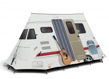 TENTE 2 ADULTES THEME ORIGINAL CAMPING CARAVANE FIELDCANDY