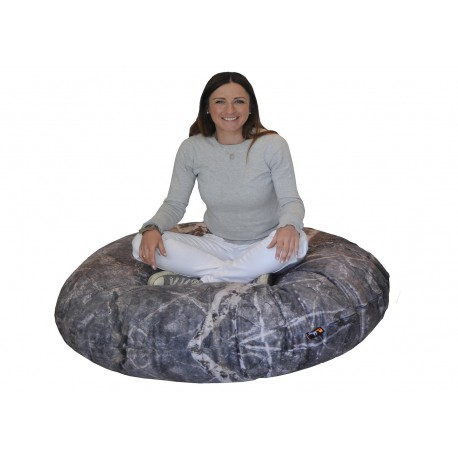 COUSSIN ROND DESIGN MARBRE STONE MEROWINGS