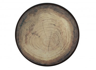 SET DE TABLE ROND LOT DE 4 UNITES DESIGN BOIS DE FRENE MEROWINGS