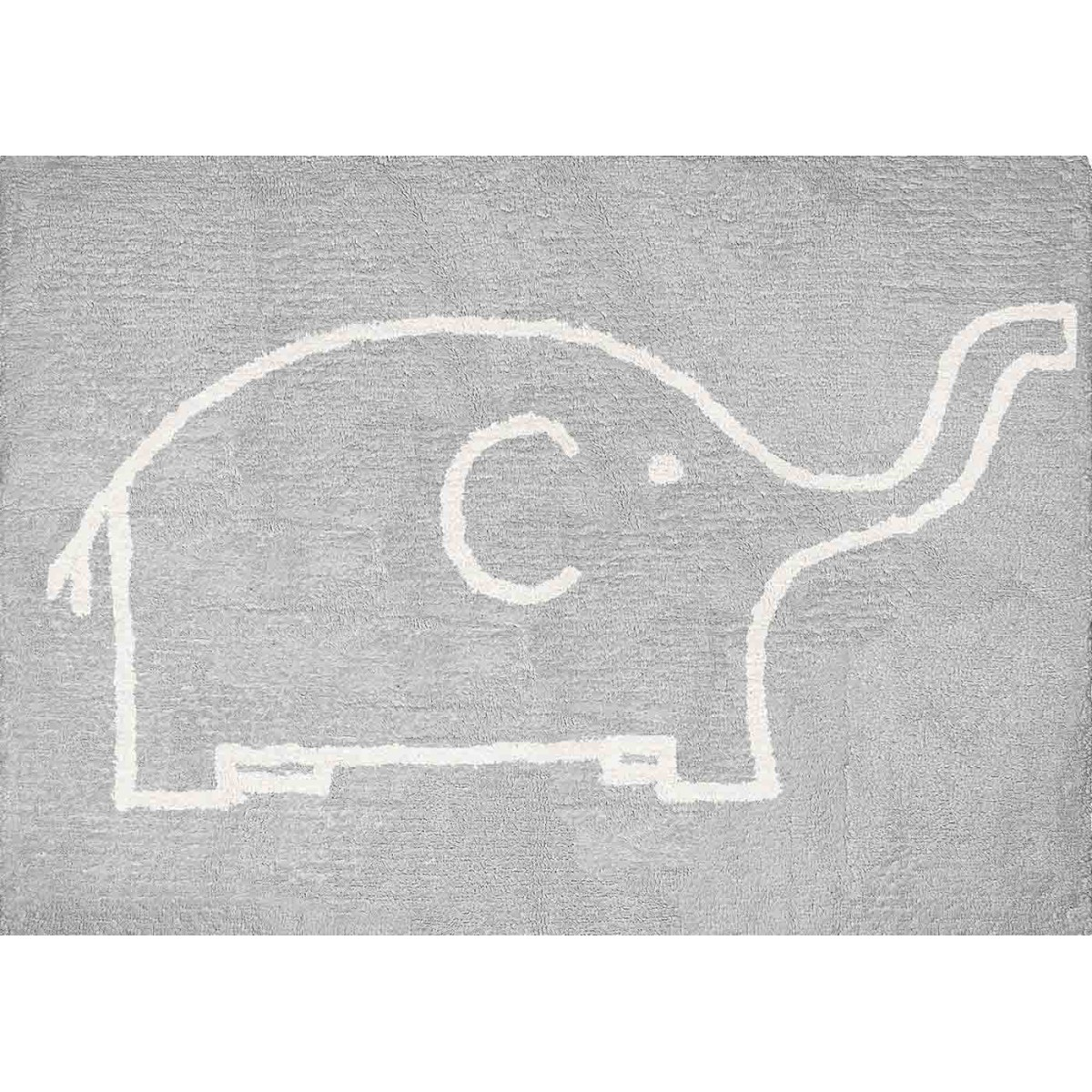 tapis enfant b b en coton motif l phant sign aratextil. Black Bedroom Furniture Sets. Home Design Ideas