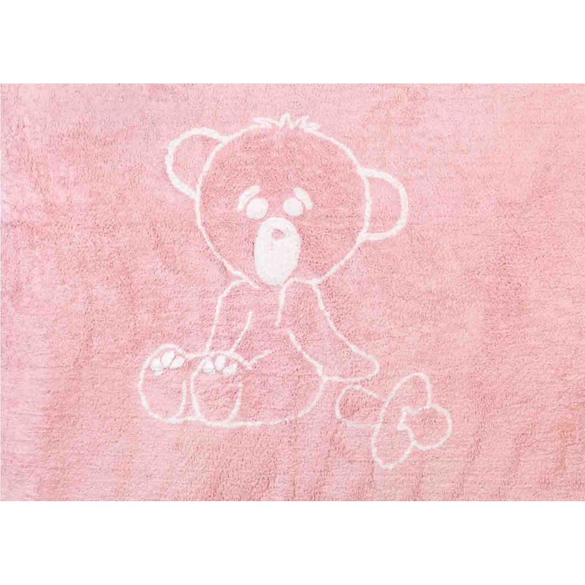 Tapis teddy bear pour chambre b b sign aratextil for Tapis rose chambre bebe