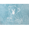 TAPIS BEBE EN COTON LAVABLE EN MACHINE THEME OURSON BLEU OU ROSE Aratextil