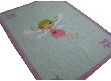 TAPIS FILLE FEE CLOCHETTE EN COTON LAVABLE EN MACHINE