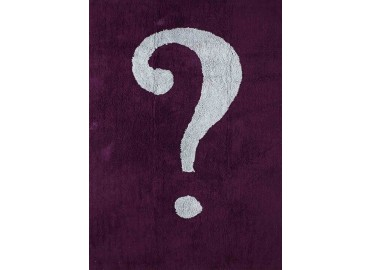 TAPIS ORIGINAL POINT D'INTERROGATION AUBERGINE