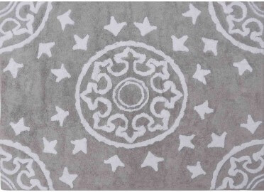 TAPIS DESIGN GRAPHIQUE EN COTON LAVABLE EN MACHINE AZULEJOS