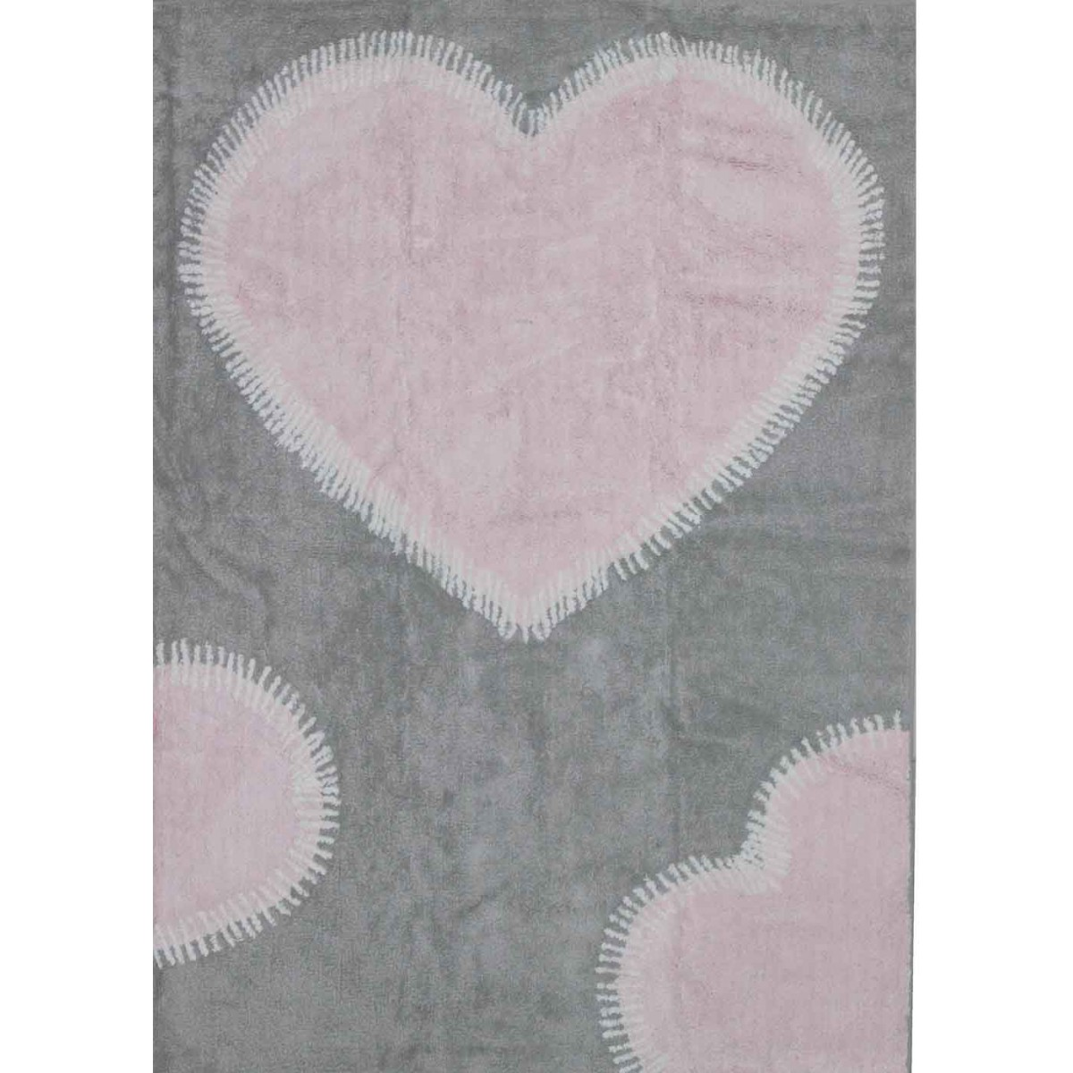 tapis c ur rose gris sign aratextil chez ksl living. Black Bedroom Furniture Sets. Home Design Ideas