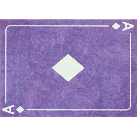 TAPIS ORIGINAL AS DE CARREAU VIOLET EN COTON LAVABLE EN MACHINE