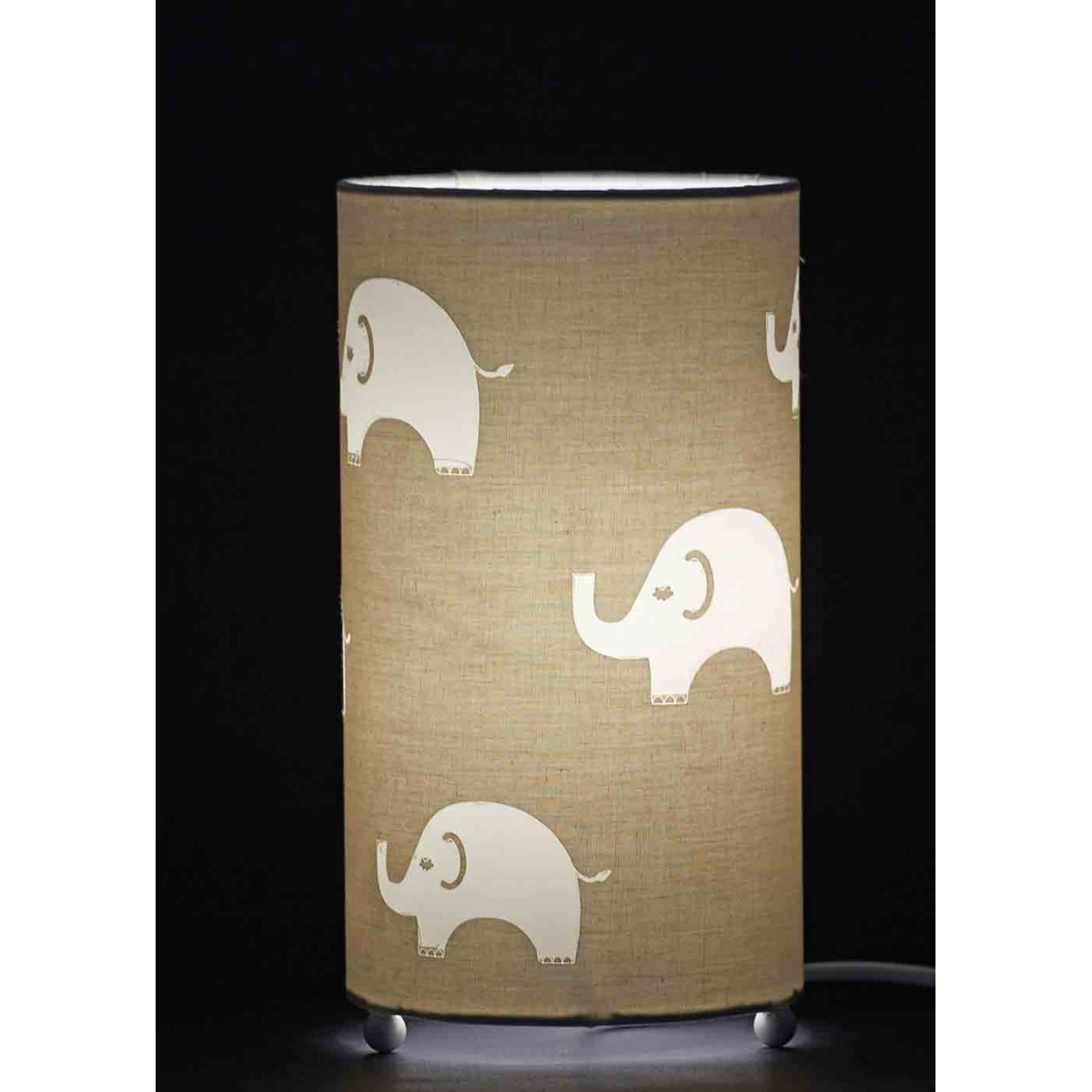 lampe de chevet enfant th me l phant sign aratextil. Black Bedroom Furniture Sets. Home Design Ideas