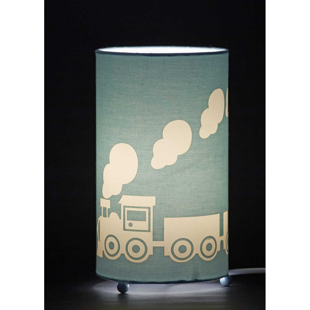 Lampe enfant gar on th me petit train aratextil - Lampe de table enfant ...