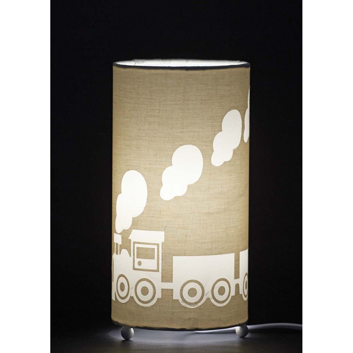 Lampe enfant gar on th me petit train aratextil - Lampe table de nuit ...