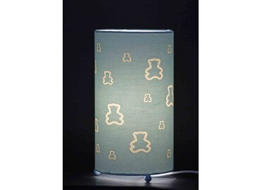 LAMPE BEBE THEME OURSON PADDINGTON BLEU ROSE OU VANILLE