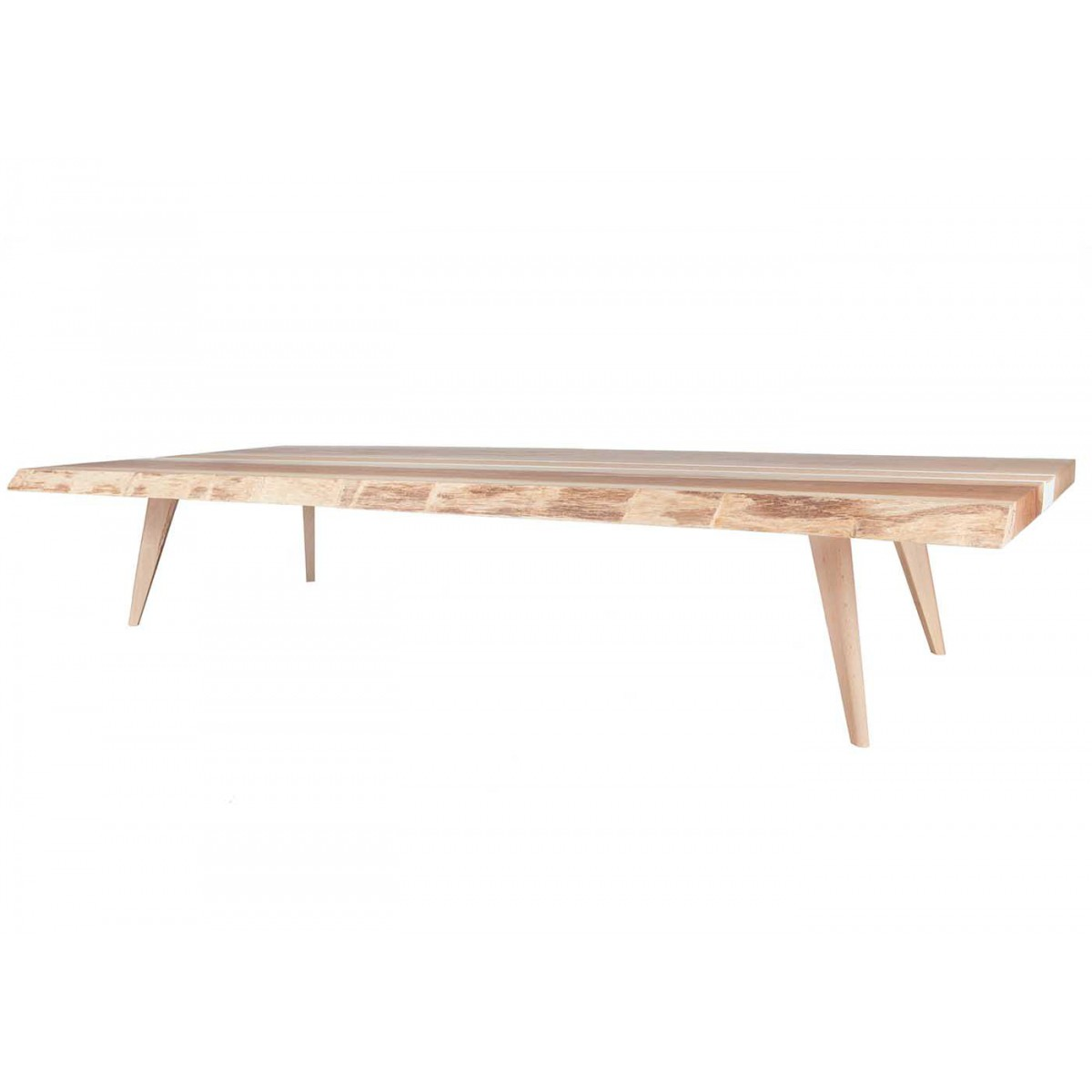 Table basse design scandinave en ch ne massif tray blomkal - Table salon modulable hauteur ...