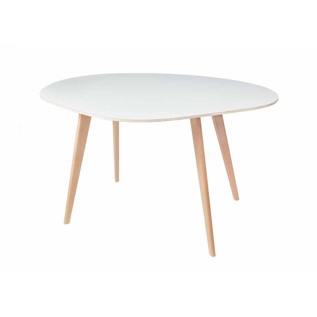 Table De Repas Design En Bois Forme Galet Colette Sign E Blomkal
