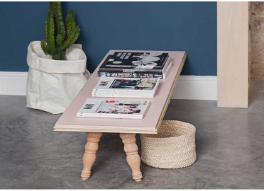 TABLE DE SALON OU D'APPOINT EN BOIS DE PEUPLIER FLOWER PAR BLOMKAL