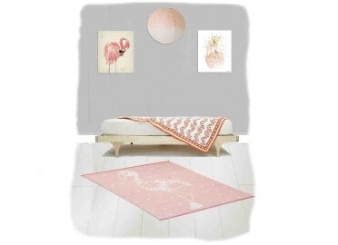 TAPIS TENDANCE FLAMAND ROSE ELLA SIGNE NATTIOT