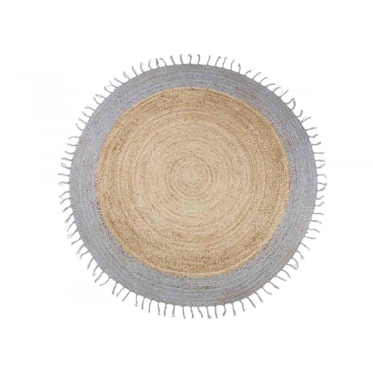 Tapis Rond Design Gris En Jute Aslesha Sign Nattiot