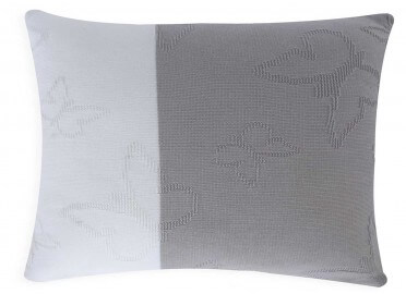 COUSSIN CARRE OU RECTANGLE PAPILLON MARIPOSA SET DE 2 BEIGE GRIS OU ROSE
