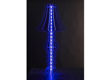 LAMPE DECORATIVE TRANSPARENTE EN PLEXIGLAS ET RUBAN A LED L 44-8 PAR 44 LIGHTS DESIGN