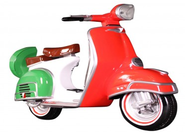 SCOOTER ITALIEN DECORATIF EN RESINE PAR TEXARTES