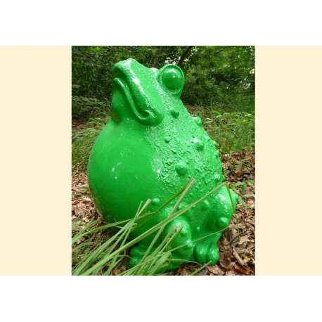 DECORATION D'EXTERIEUR ORIGINALE CRAPAUD EN RESINE COLORE TEXARTES